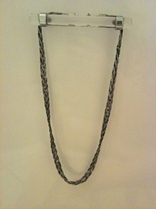 Dark Silver Four-Chain Braided Necklace